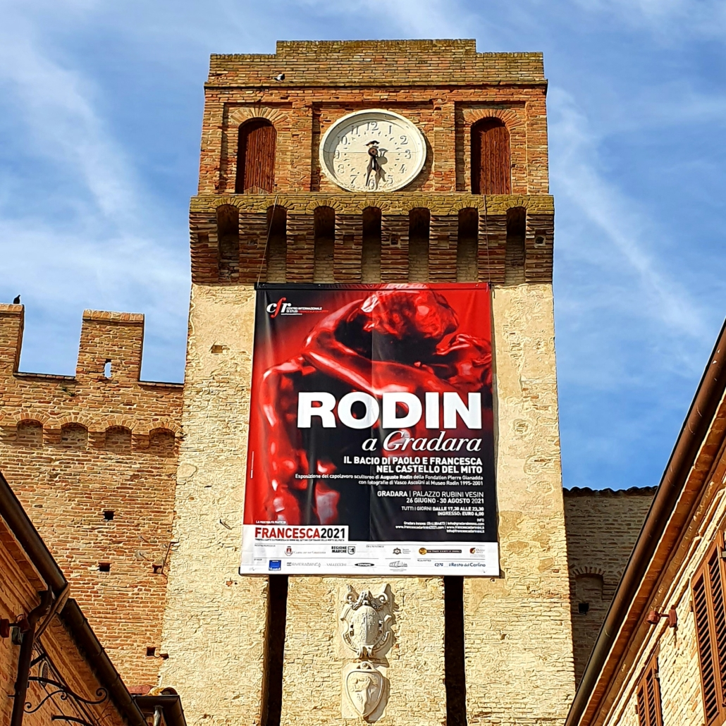 Torre di Gradara con Manifesto di Rodin